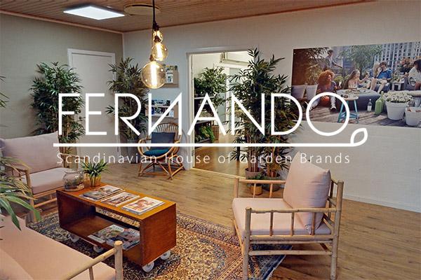 Fernendo showroom med logo